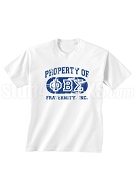 Phi Beta Sigma Vintage Property Screen Printed T-Shirt with Greek Letters, White