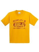 Pi Kappa Alpha Vintage Property Screen Printed T-Shirt with Greek Letters, Gold