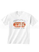Tau Kappa Epsilon Vintage Property DTG Printed T-Shirt with Greek Letters, White