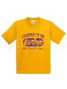 Omega Psi Phi Vintage Property DTG Printed T-Shirt with Greek Letters, Gold