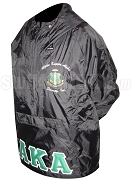 Black Alpha Kappa Alpha Pullover Anorak Jacket with Crest
