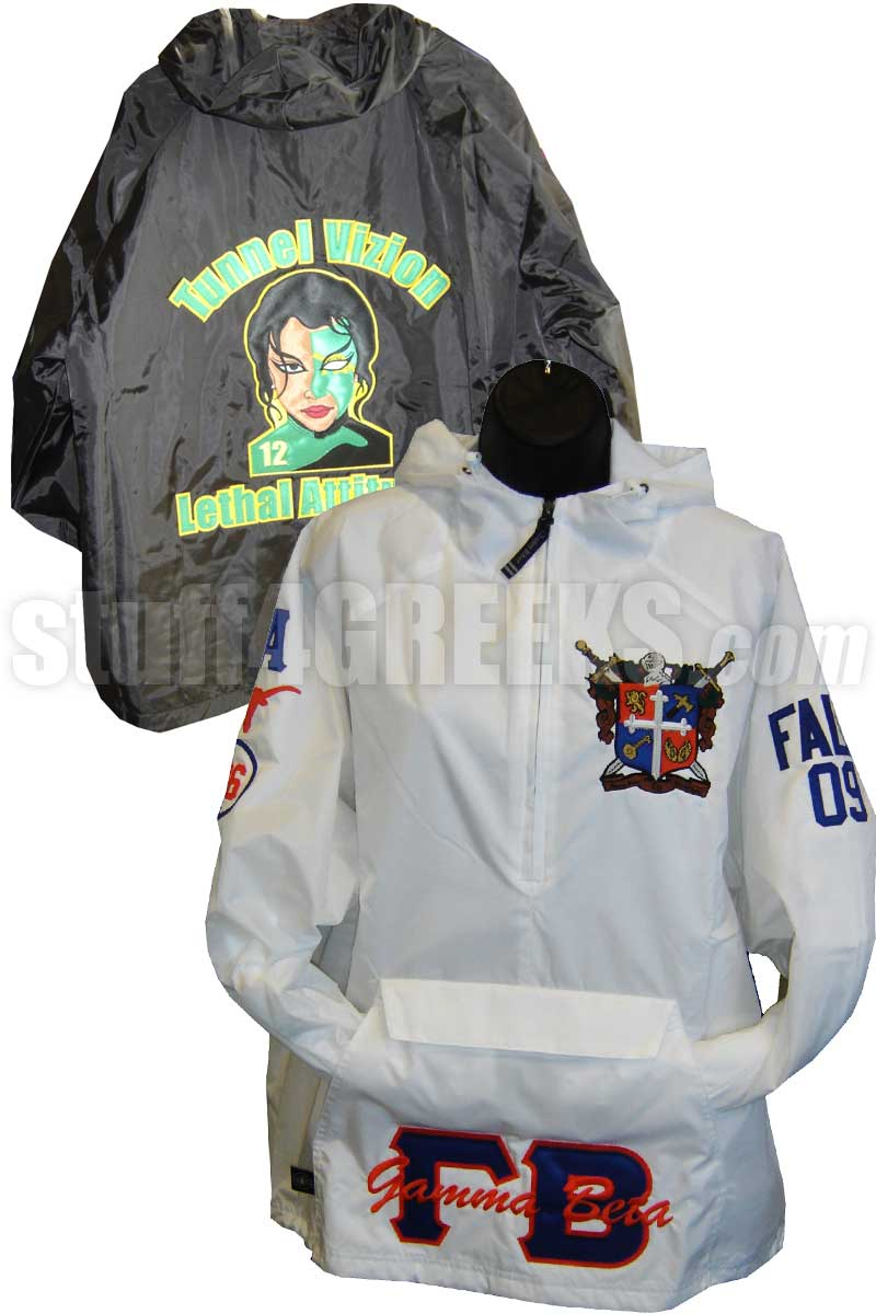 c6bc0454 Custom Greek Pullover Anorak Jacket