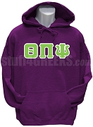 Theta Pi Psi Greek Letter Pullover Hoodie Sweatshirt, Purple