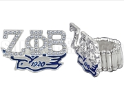 Zeta Phi Beta 1920 Dove Stretchy Band Ring with Stones