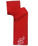 Elephant Oo-oop Embroidered Scarf, Red
