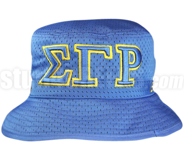 5aa2c347407 Sigma Gamma Rho Greek Letters Floppy Bucket Hat with Founding ...