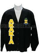 Acacia Cardigan with Organization Name and Crest, Black