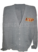 Alpha Chi Rho Greek Letter Cardigan, Gray