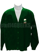 Alpha Omega Theta Christian Fraternity Crest Cardigan, Forest Green