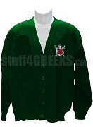 Alpha Omega Theta Crest Cardigan, Forest Green