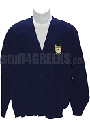 Alpha Psi Rho Crest Cardigan, Navy Blue