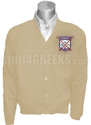 Alpha Sigma Upsilon Crest Cardigan, Cream