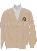 Beta Gamma Nu Crest Cardigan, Cream