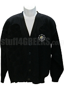 Beta Kappa Psi Crest Cardigan, Black