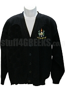 Beta Omega Phi Crest Cardigan, Black