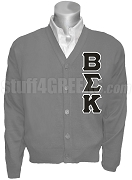 Beta Sigma Kappa Cardigan with Greek Letters, Gray