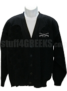 Buffalo Soldier Crest Cardigan, Black