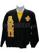 Alpha Epsilon Pi Greek Letter Cardigan with Fleur-De-Lis