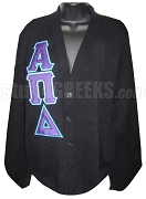 Alpha Pi Delta Greek Letter Cardigan, Black