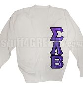 Sigma Lambda Beta Greek Letter Cardigan, White