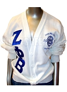 Zeta Phi Beta Greek Letter Cardigan Sweater with Embellished Crest