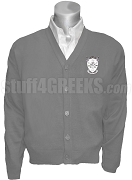 Delta Psi Alpha Crest Cardigan, Gray