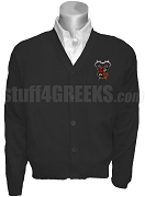 Gamma Beta Chi Crest Cardigan, Black