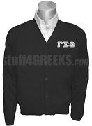 Gamma Sigma Omega Greek Letter Cardigan, Black