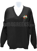 Kappa Delta Chi V-Neck Sweater with Crest, Black
