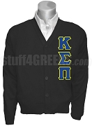 Kappa Sigma Pi Cardigan with Letters, Black
