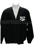 Knights Fraternity, Inc. Cardigan with Crest, Black