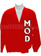 Men of D.I.S.T.I.N.C. Cardigan with Letters, Red