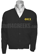 Phi Kappa Chi Greek Letter Cardigan, Black