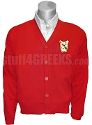 Pi Delta Psi Crest Cardigan, Red