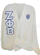 Zeta Phi Beta Varsity Cardigan with Letters and Crest