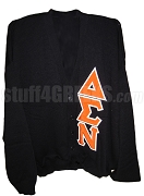 Delta Sigma Nu Greek Letter Cardigan, Black