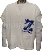 White Zeta Phi Beta Varsity Letter Cardigan with Large