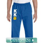 Custom Greek Sweatpants with Sewn-On Letters (G123)