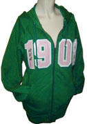 Kelly Green 1908 Alpha Kappa Alpha Split-Front Zip-Up Hoodie