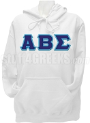 Alpha Beta Sigma Greek Letter Pullover Hoodie Sweatshirt, White