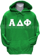 Alpha Delta Phi Greek Letter Pullover Hoodie Sweatshirt, Kelly Green