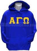 Alpha Gamma Omega Greek Letter Pullover Hoodie Sweatshirt, Royal Blue