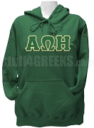 Alpha Omega Eta Greek Letter Pullover Hoodie Sweatshirt, Forest Green