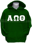 Alpha Omega Theta Christian Fraternity Greek Letter Pullover Hoodie Sweatshirt, Forest Green