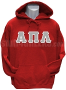 Alpha Pi Lambda Greek Letter Pullover Hoodie Sweatshirt, Red