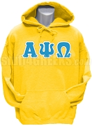 Alpha Psi Omega Greek Letter Pullover Hoodie Sweatshirt, Gold