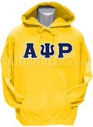 Alpha Psi Rho Greek Letter Pullover Hoodie Sweatshirt, Gold