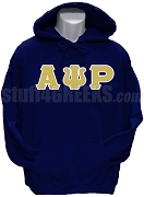 Alpha Psi Rho Greek Letter Pullover Hoodie Sweatshirt, Navy Blue