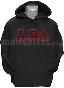 Alpha Rho Delta Greek Letter Pullover Hoodie Sweatshirt, Black