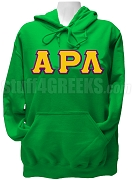 Alpha Rho Lambda Greek Letter Pullover Hoodie Sweatshirt, Kelly Green